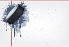 Disco di gomma di hokey Fotografie Stock