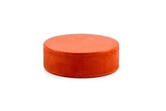 Disco di hockey arancio Fotografie Stock
