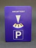 Disco di parcheggio fotografie stock