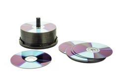 Disco digitale dell'isolato su fondo bianco Fotografie Stock