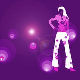 Disco diva. Place your information on the right if needed royalty free illustration