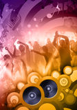 Disco dj. Colorful composition of a sound party at the disco Royalty Free Stock Images