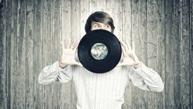 Disco DJ Foto de Stock Royalty Free