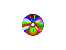Disco do CD de DVD no fundo branco foto de stock royalty free