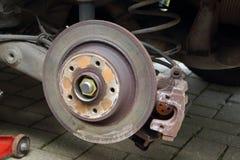 Disco do freio de um carro Imagem de Stock Royalty Free