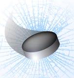 Disco do hóquei que quebra o gelo ilustração do vetor