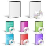 Disco do software, disco video, DVD, projetos da tampa, CD Fotografia de Stock