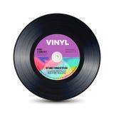Disco do vinil com sulcos brilhantes Registros retros velhos Ilustração isolada do vetor ilustração stock