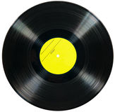 Disco do vinil isolado no fundo branco Fotografia de Stock Royalty Free