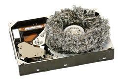 Disco duro aberto com palhas de aço #2 Imagem de Stock Royalty Free