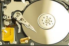 Disco duro abierto fotografía de archivo libre de regalías