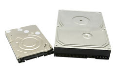 Disco duro aislado en el fondo blanco imagen de archivo