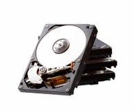 Disco duro aislado en el fondo blanco foto de archivo