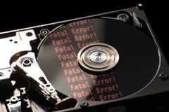 Disco duro con error Fotografía de archivo libre de regalías