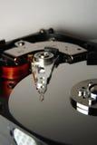Disco duro con la pista de mecanismo impulsor Fotografía de archivo libre de regalías