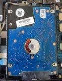 Disco duro del cuaderno interno foto de archivo