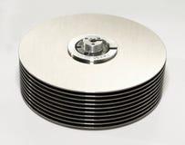 Disco duro del ordenador adentro Fotos de archivo