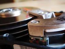 Disco duro del ` s del ordenador del detalle del lado Imágenes de archivo libres de regalías