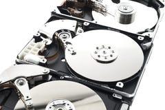 Disco duro en fila Imagen de archivo libre de regalías