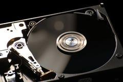 Disco duro en negro Imágenes de archivo libres de regalías