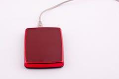 Disco duro externo del rojo Imagen de archivo