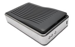 Disco duro externo (visión superior) Fotografía de archivo