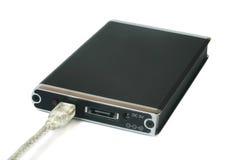 Disco duro portable externo Foto de archivo libre de regalías