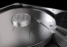 Disco duro quebrado Imagen de archivo