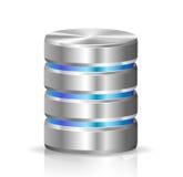 Disco duro y base de datos stock de ilustración