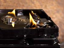 Disco duros ardentes Imagem de Stock
