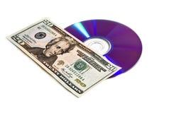 Disco e dinheiro de Digitas Foto de Stock