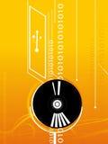 Disco e elementos binários Fotografia de Stock Royalty Free