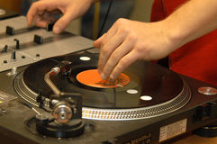 Disco ed il DJ Fotografie Stock