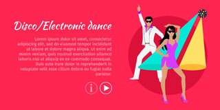 Disco and Electronic Dance Web Banner. Vector Stock Images
