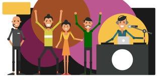 Disco en club de noche evento corporativo Danza de la gente joven Foto de archivo