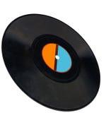 disco, enregistrement de vinyle de cru, chemin de découpage, charbon Photographie stock libre de droits