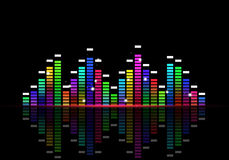 Disco Equalizer Music Poster Stock Photo