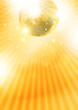 Disco-esfera do ouro Foto de Stock Royalty Free