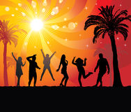 Disco evening in the paradise. Royalty Free Stock Photography
