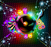 Disco Event Background. With and Explosion of colurs! Ready for flyers and posters Royalty Free Stock Photography