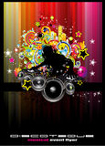 Disco Event Background with colorful elements Royalty Free Stock Photos