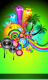 Disco Event Poster for tropical events Stock Images