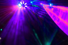 Disco. Exposition de laser. Photo libre de droits