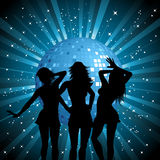 Disco females Royalty Free Stock Photo