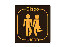 Disco Fever. A funny Disco sign to be printed or put on a tee-shirt vector illustration