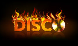 Disco fire background. Disck Royalty Free Stock Photo