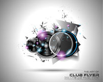 Disco Flyer Art for Music Event backgrounds, posters, brochure Royalty Free Stock Photography