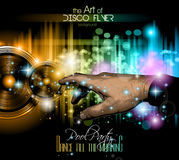 Disco Flyer - Stunning Speakers with a pointing hand Royalty Free Stock Photos