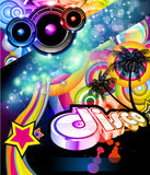 Disco Flyer For Tropical  Music Event Royalty Free Stock Image