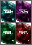 Disco flyers. Stock Images